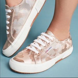 NWT Superga Rose Gold camo sneakers, 41 or 9 1/2